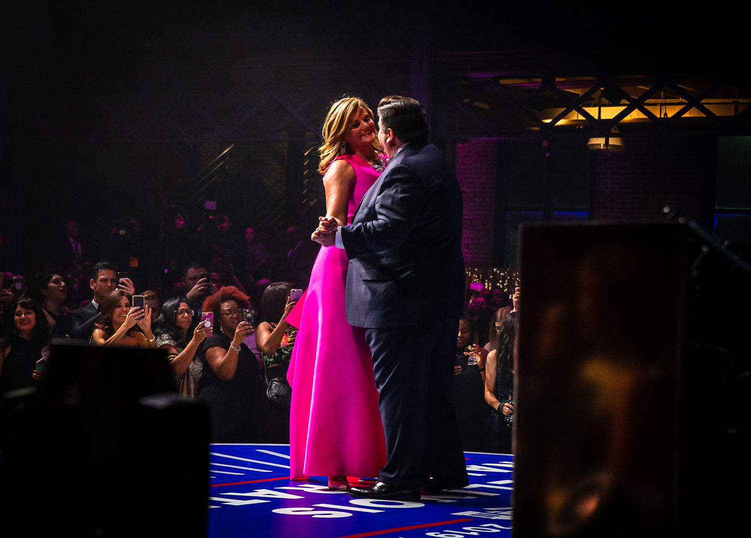 Gov. J.B. Pritzker dances with his wife M.K. Pritzker during their first dance at the Inaugural Ball at the Exposition Building on the Illinois State Fairgrounds, Monday, Jan. 14, 2019, in Springfield, Ill. [Justin L. Fowler/The State Journal-Register]