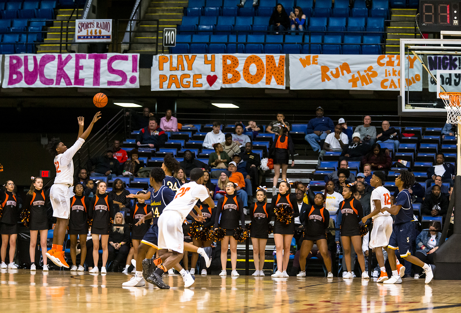 Lanphier's KJ Debrick (32) shoots a 3-pointer against Southeast in the third quarter on opening night of the Boys City Tournament at the Bank of Springfield Center, Wednesday, Jan. 16, 2019, in Springfield, Ill. [Justin L. Fowler/The State Journal-Register]
