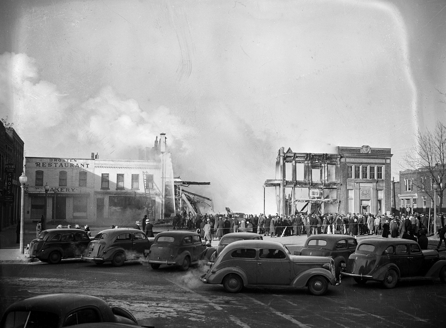 Fire destroys several buildings on the Carlinville public square Jan. 5, 1941. File/The State Journal-Register