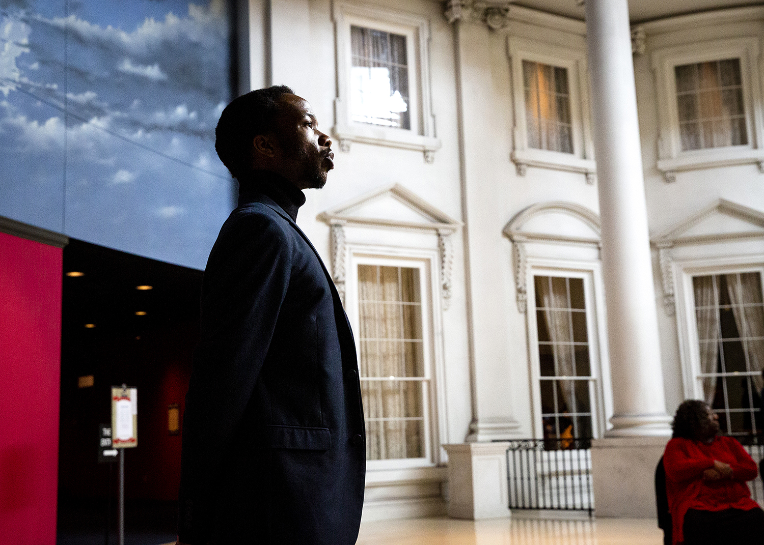 """Reggie Guyton, an actor at the Abraham Lincoln Presidential Museum, prepares to deliver Martin Luther King Jr.'s """"I Have a Dream"""" speech during an event to celebrate King's legacy Monday, Jan. 21, 2019 in Springfield, Ill. King gave his famous speech, calling for civil and economic rights and end end to racism, on the steps of the Lincoln Memorial in Washington, D.C. in August of 1963. [Rich Saal/The State Journal-Register]"""