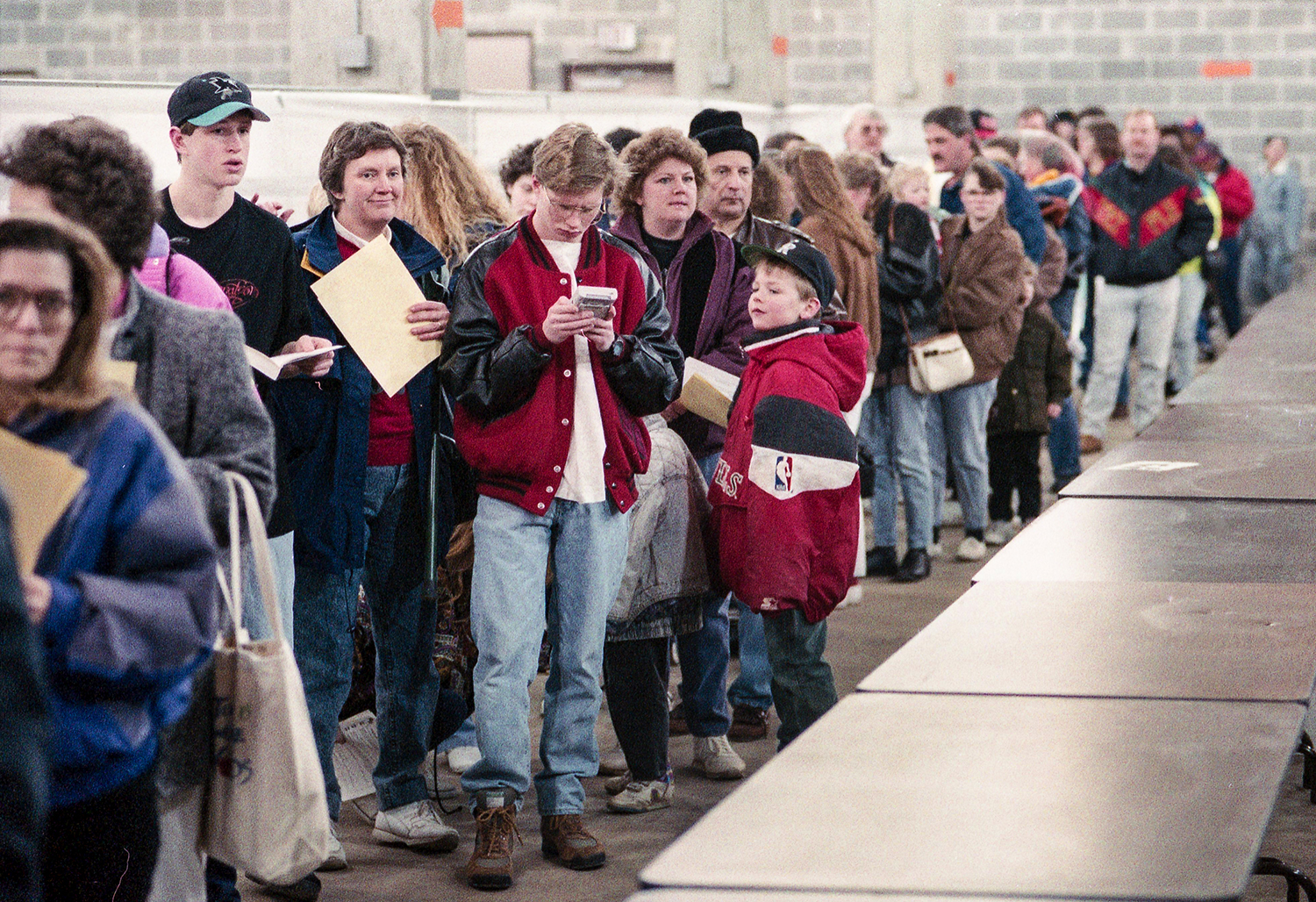 Mass immunization for bacterial meningitis held Feb. 5, 1994 in the Livestock Center on the Illinois State Fairgrounds. File/David Spencer/The State Journal-Register