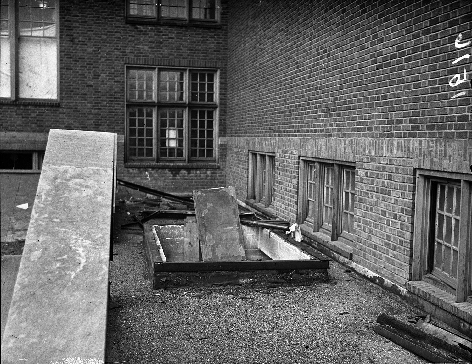 Damage at Springfield High School following explosion and fire, March 20, 1932. File/The State Journal-Register
