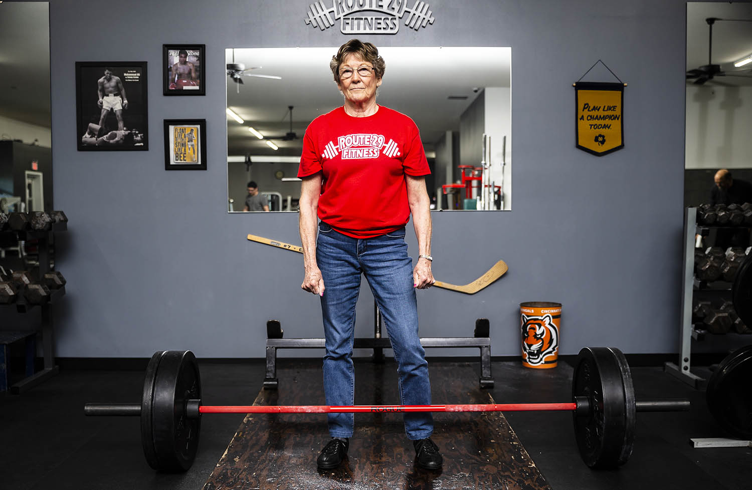 Jeanette ÒJeanÓ Barbee Dougherty, 74, is 5-feet-4 inches tall and weighs 123 pounds, but she can deadlift 245 pounds. Dougherty, who started training in 2006, has been designated raw world record holder in the single lift deadlift in her weight class and division (womenÕs master Ð 70 to 74) through the Amateur World Powerlifting Congress. [Justin L. Fowler/The State Journal-Register]