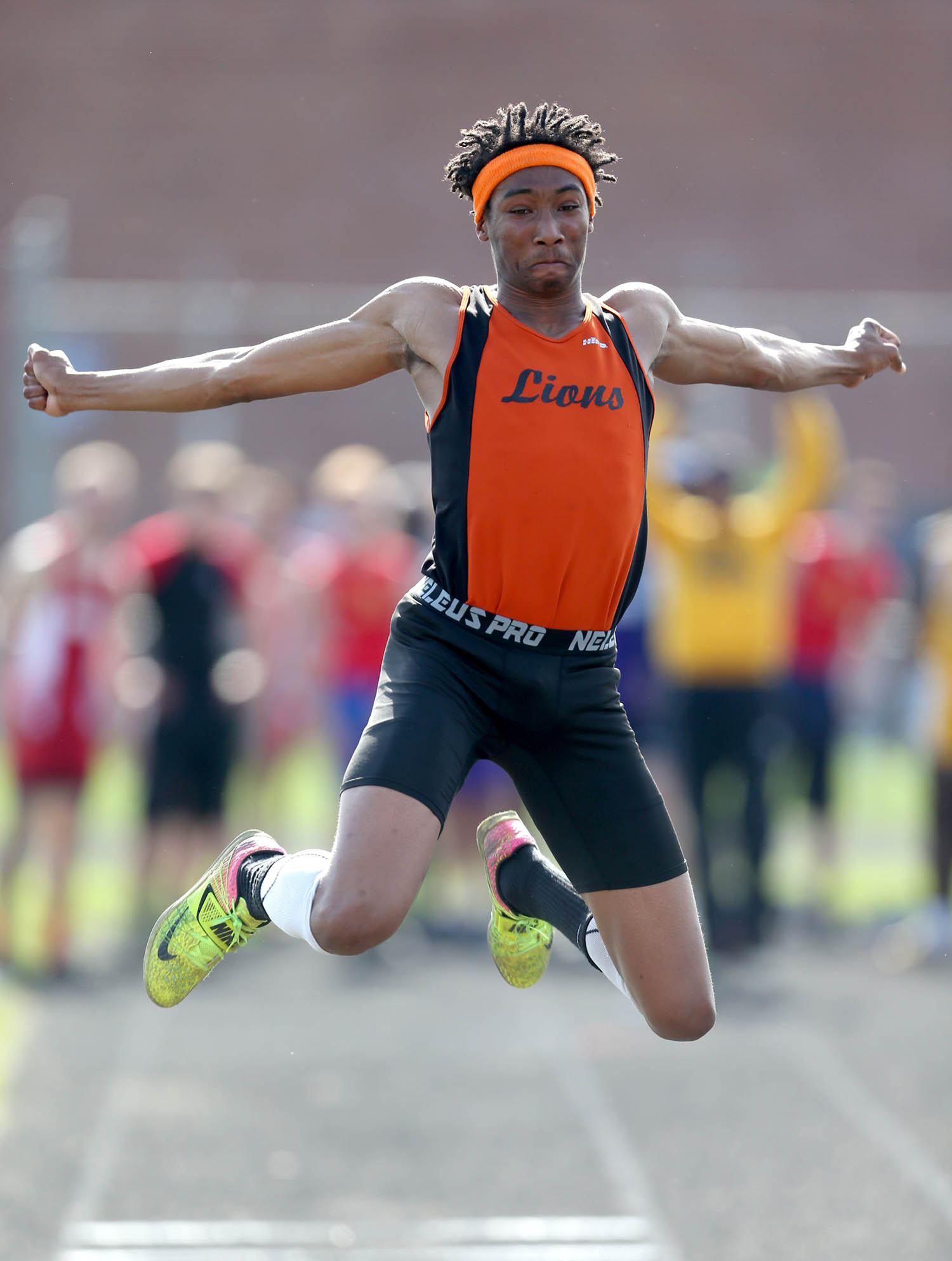 Lanphier's Kahlil Ross is currently the top qualifier in the Class 2A Triple Jump for the IHSA Boys Track & Field State Finals with a jump of 46-04.75. [Justin L. Fowler/The State Journal-Register]