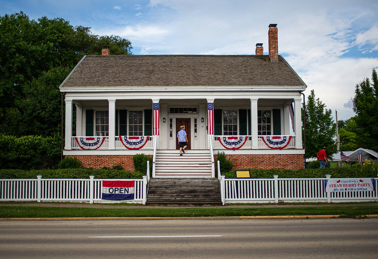 "The historic Elijah Iles House was built in 1837 and is one of the oldest surviving houses in Springfield and serves as the host for the annual ""Clara Irwin's Strawberry Party"" on the 4th of July, Thursday, July 4, 2019, in Springfield, Ill. The annual event celebrates Clara Irwin, who was the spouse of the second owner of the Elijah Iles House, and was known for her advocacy of the horticultural arts and also for her strawberries and strawberry parties in the 1840s and '50s. [Justin L. Fowler/The State Journal-Register]"