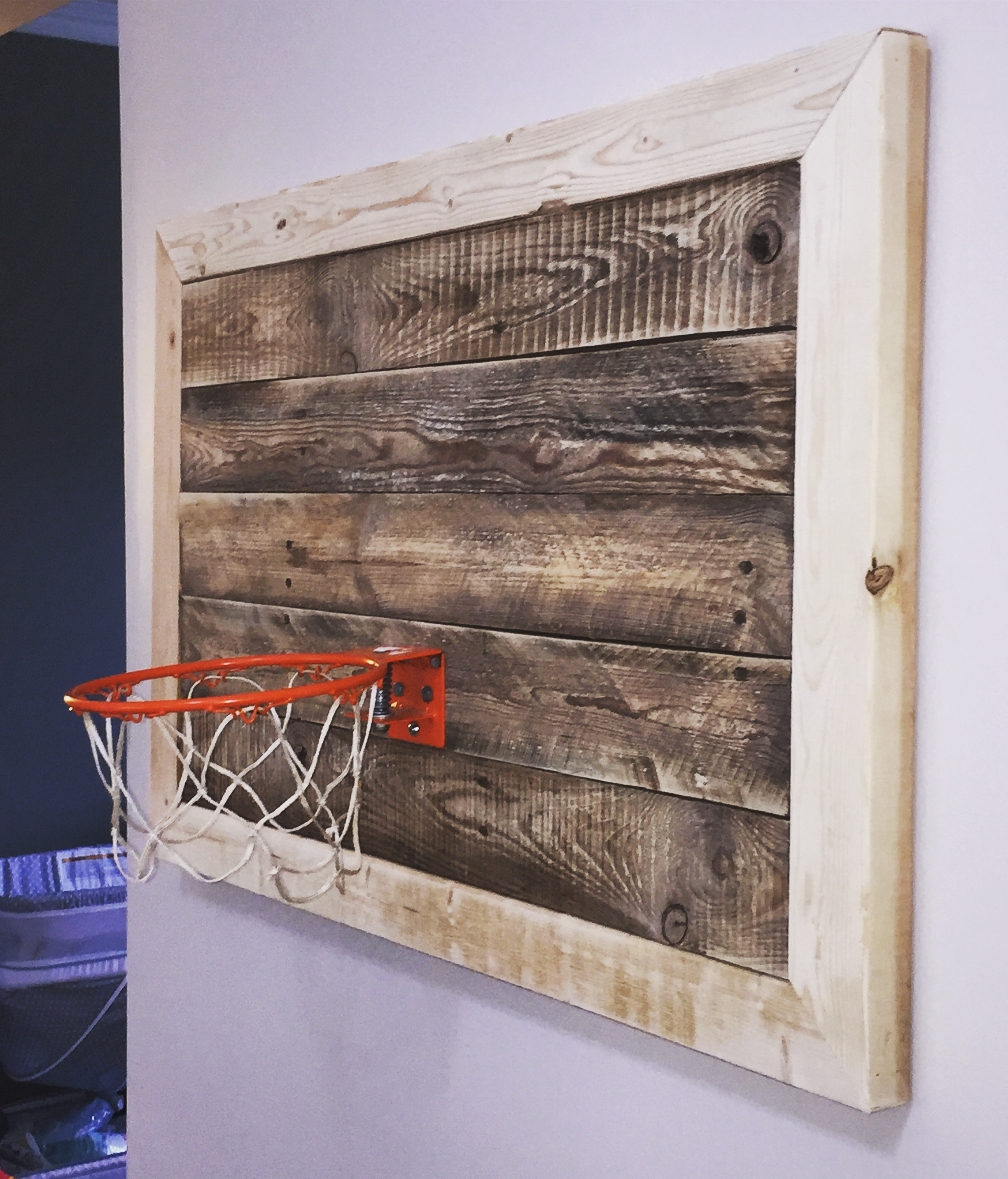 Reclaimed wood Basketball Hoop