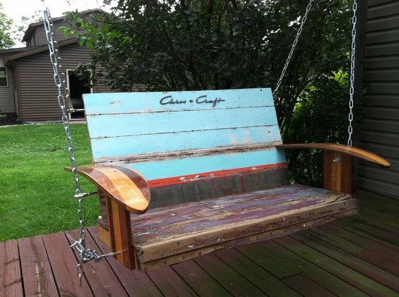 Wooden Chris Craft Boat Swing