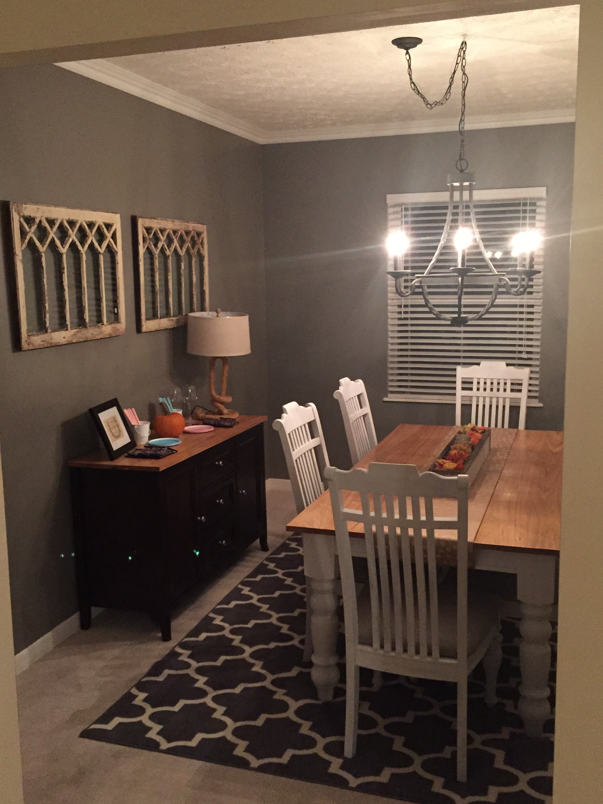 Farmhouse Table in Formal Dining Room!
