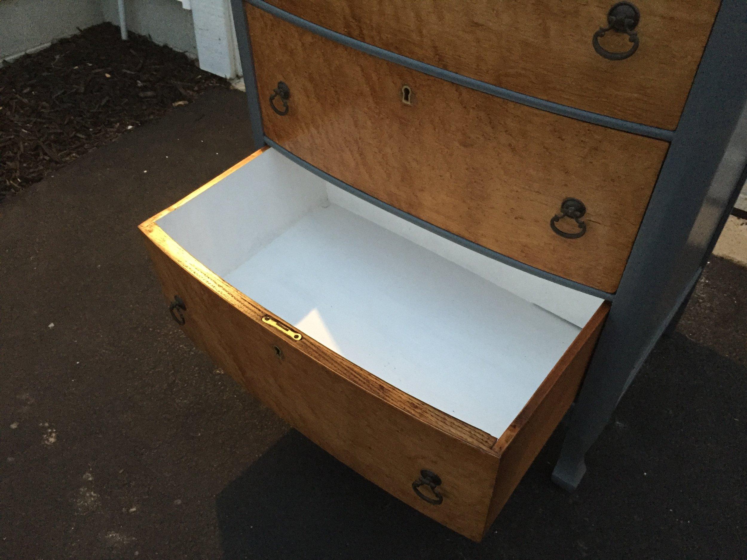 Antique dresser drawer paint