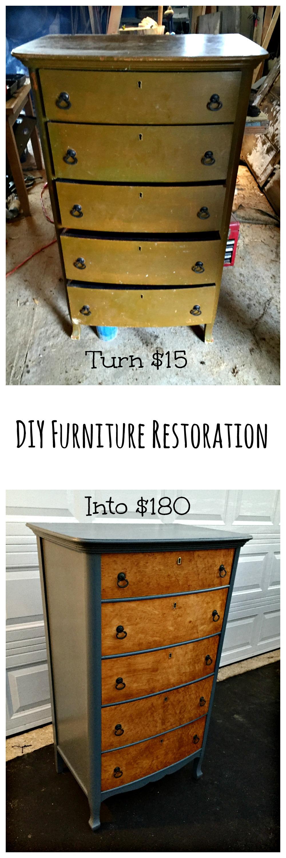 DIY furniture dresser makeover