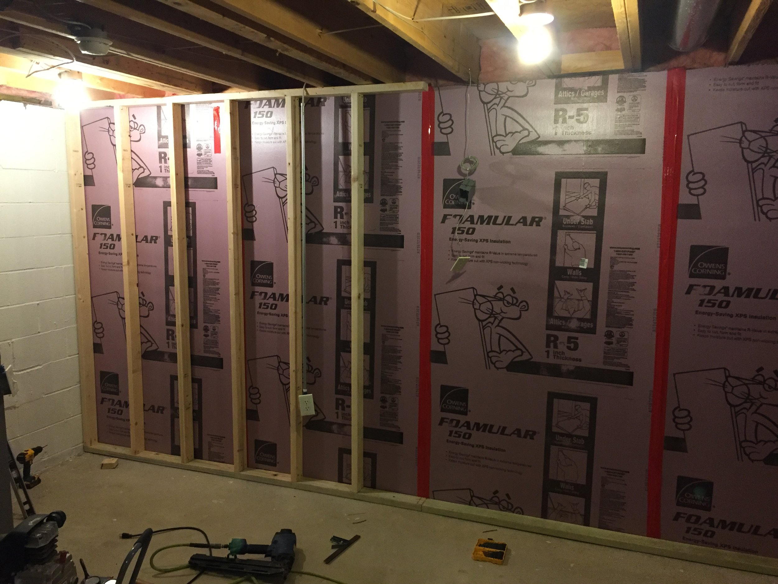 Basement Insulation and Framing