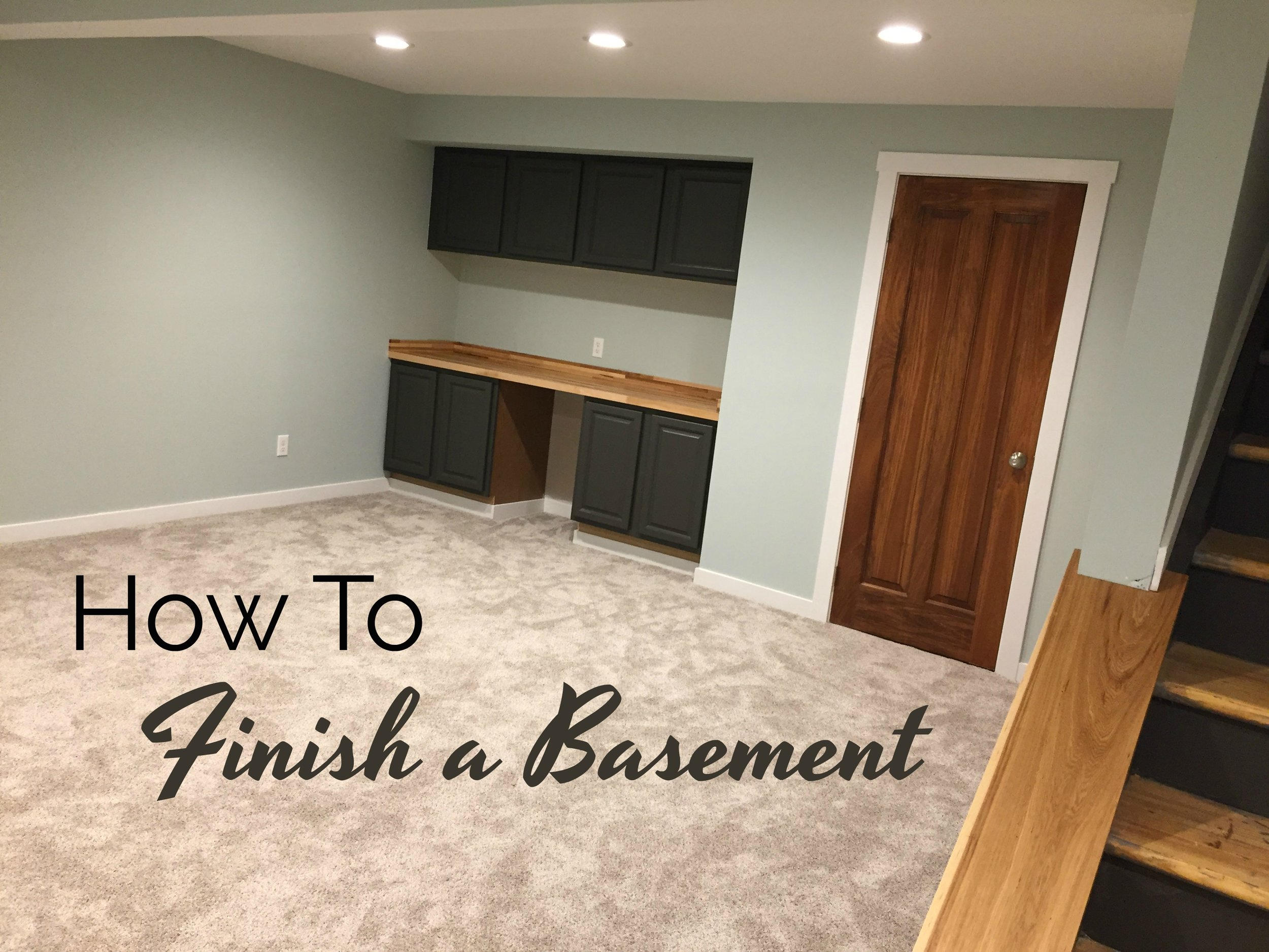 how to finish a basment