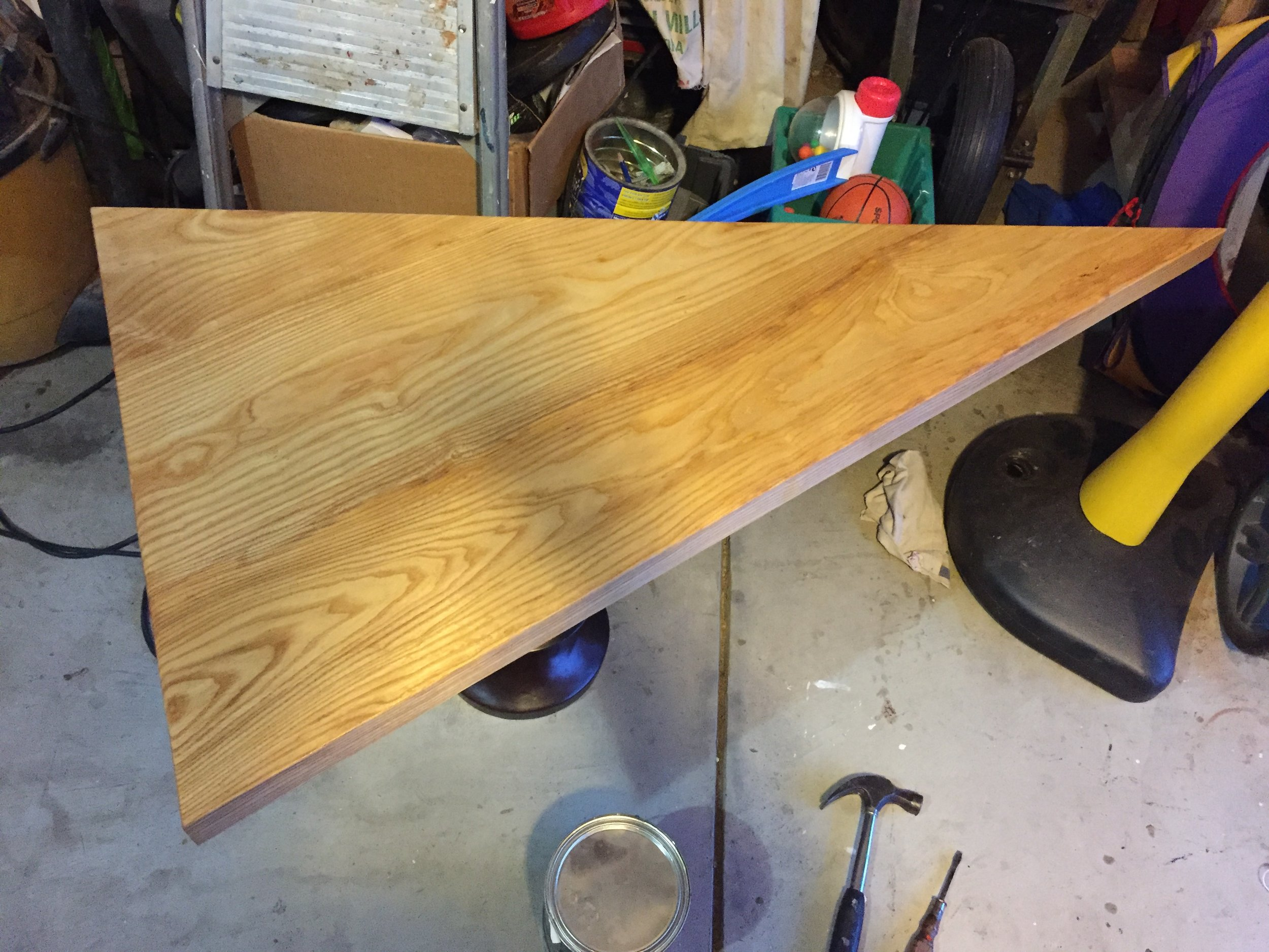 10 - Applying Varnish to A Coffee Table.JPG