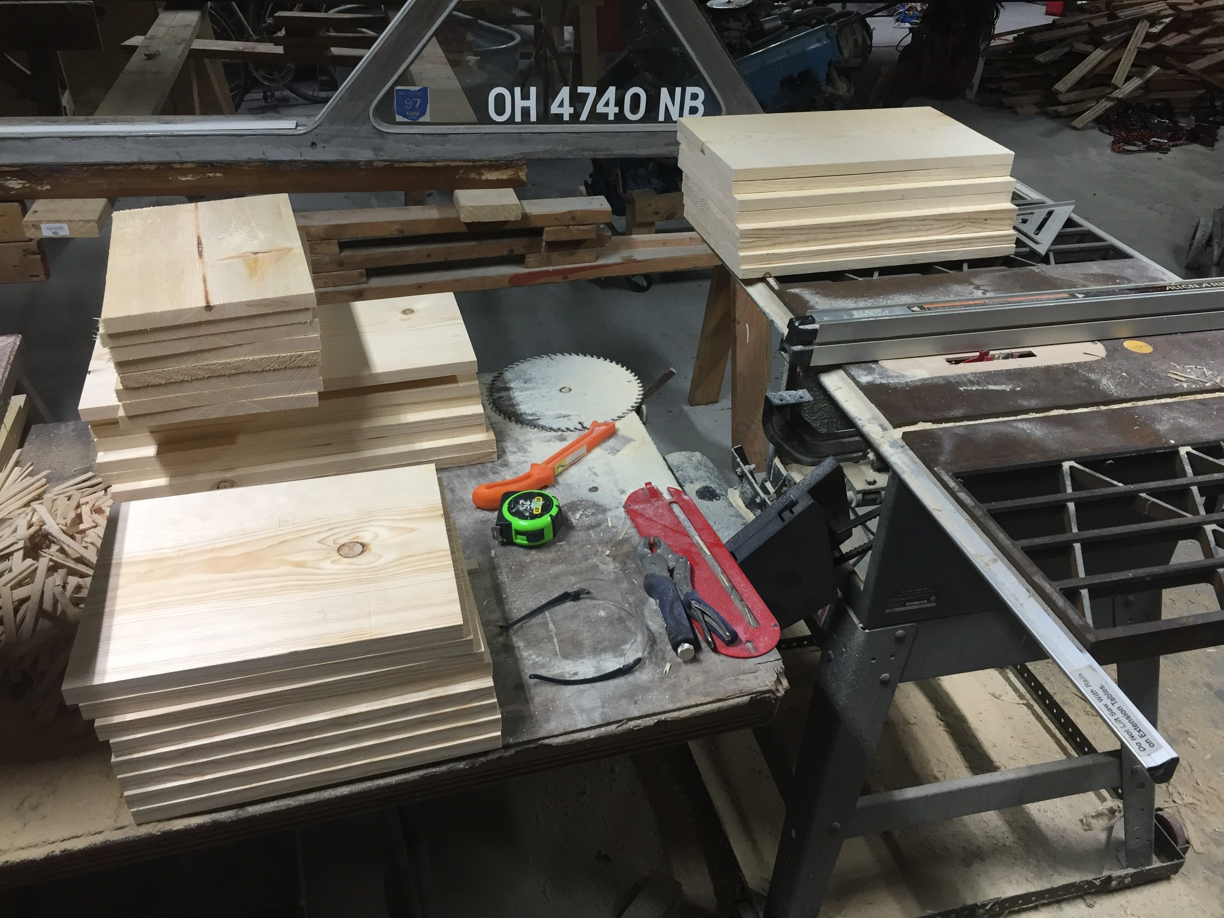 Brood Box and Honey Super boards cut to length.