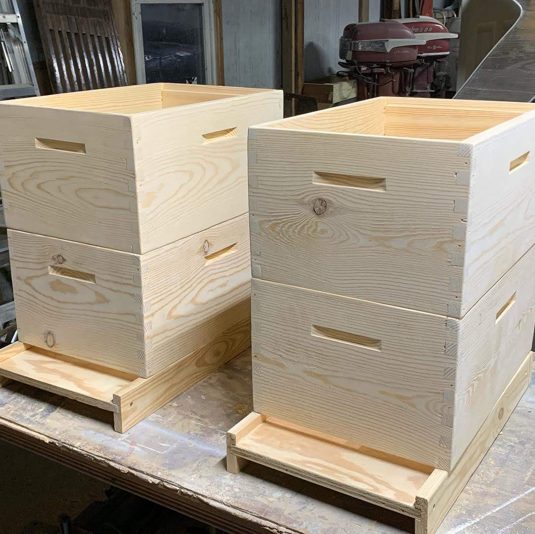 Brood Boxes - assembled, glued, and sanded - ready for epoxy and varnish.