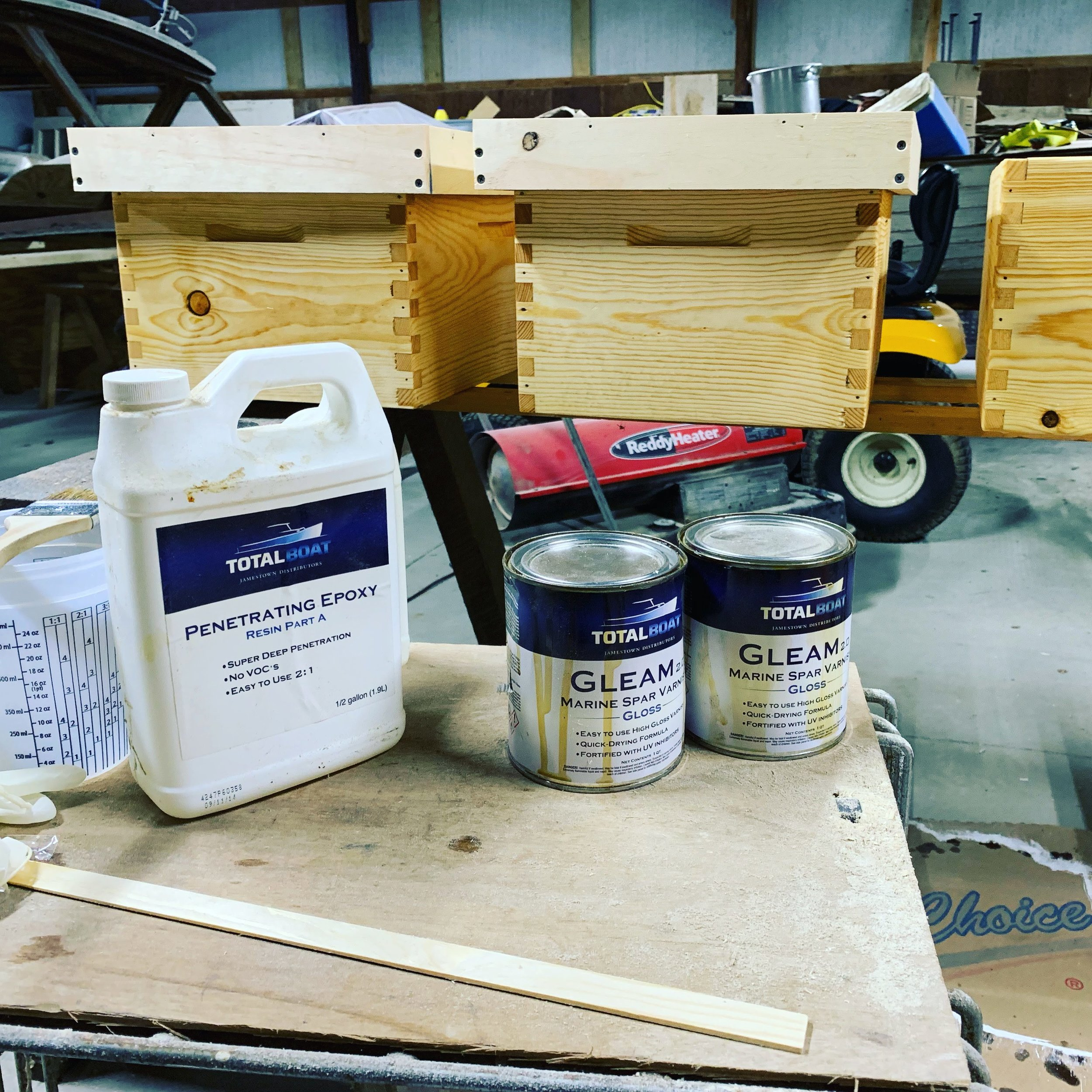 How to seal a beehive with Marine Grade Supplies
