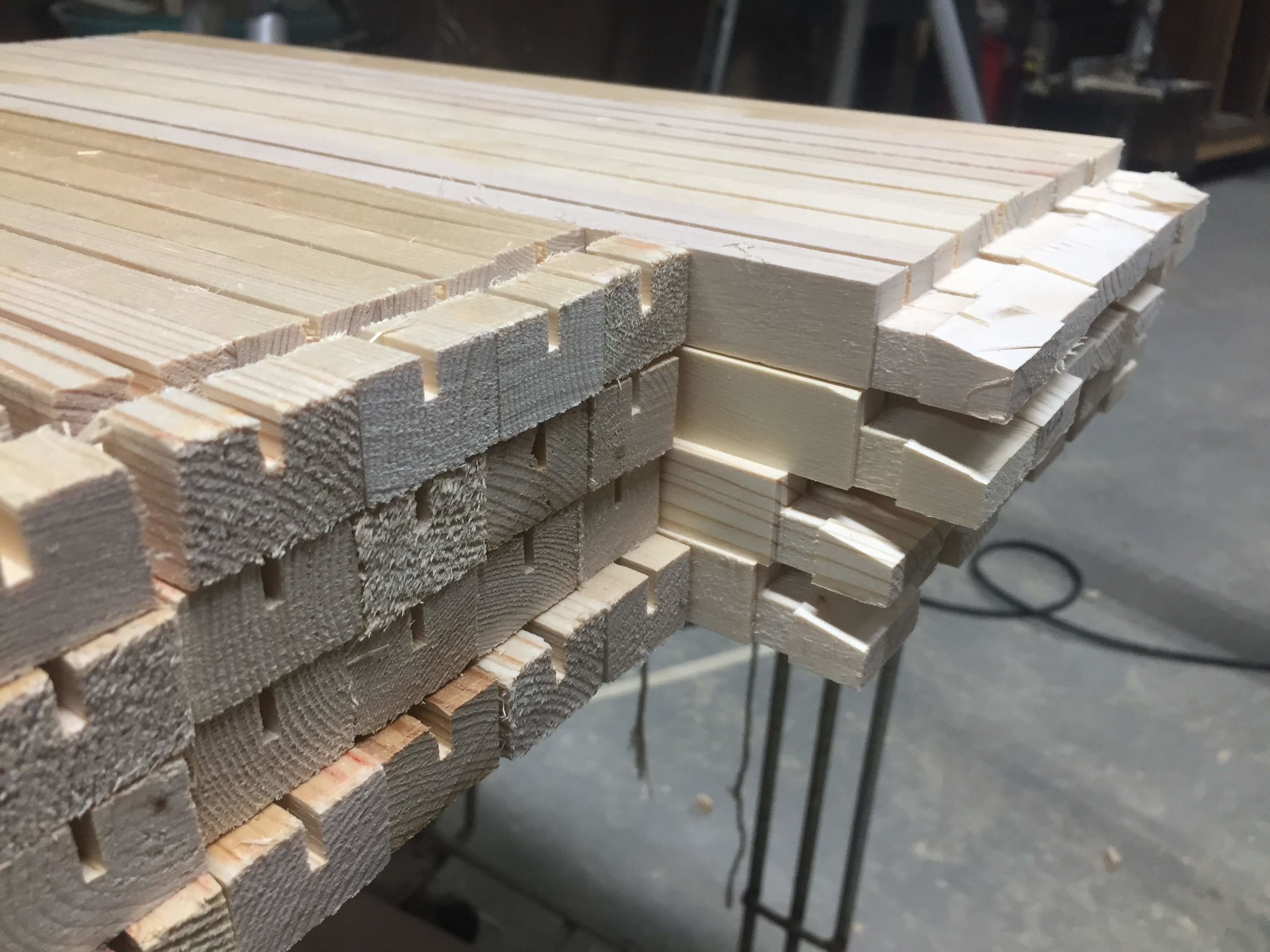 Cut more pieces then you need when making frames. Work in Progress.