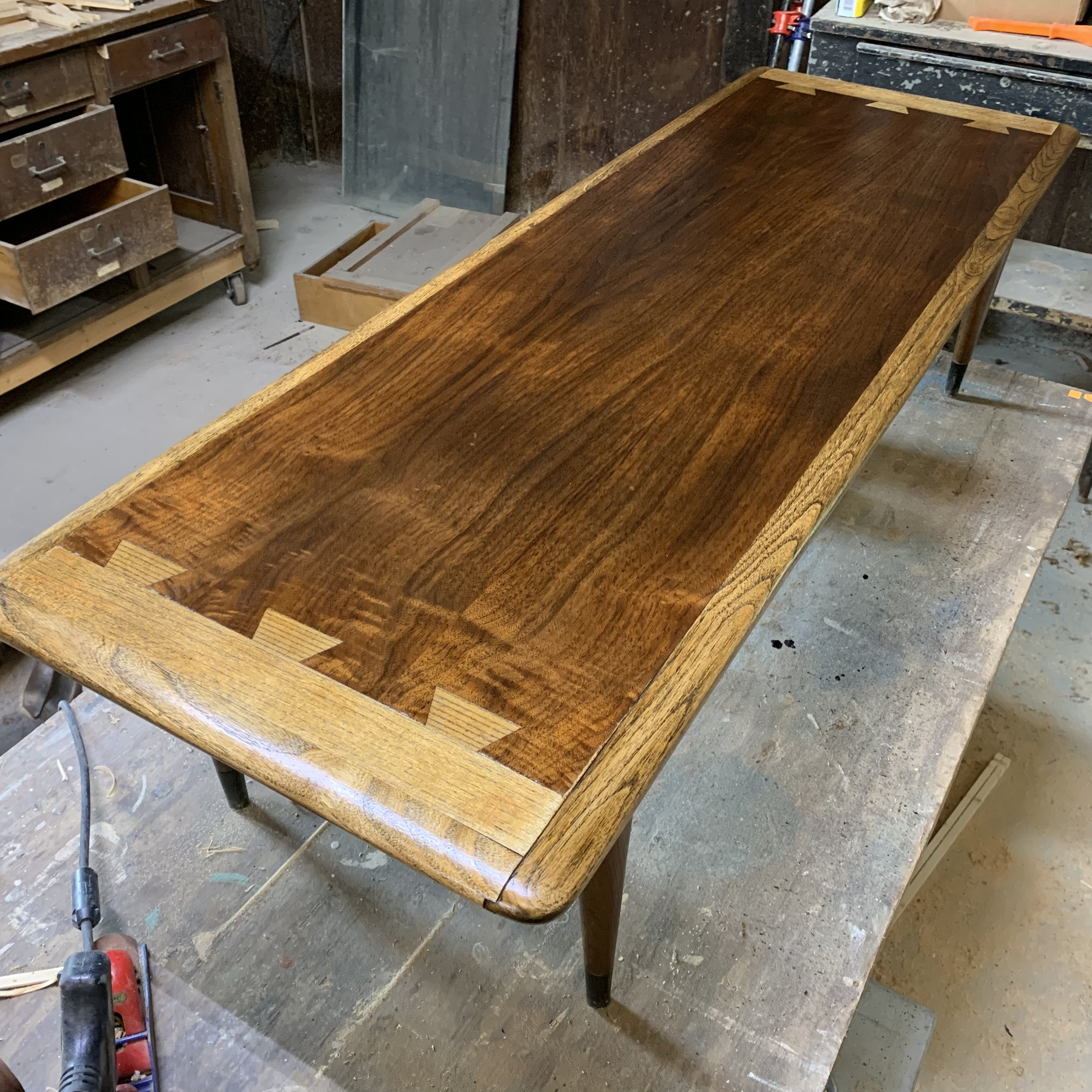 How to Refinish a Mid Century Modern Coffee Table