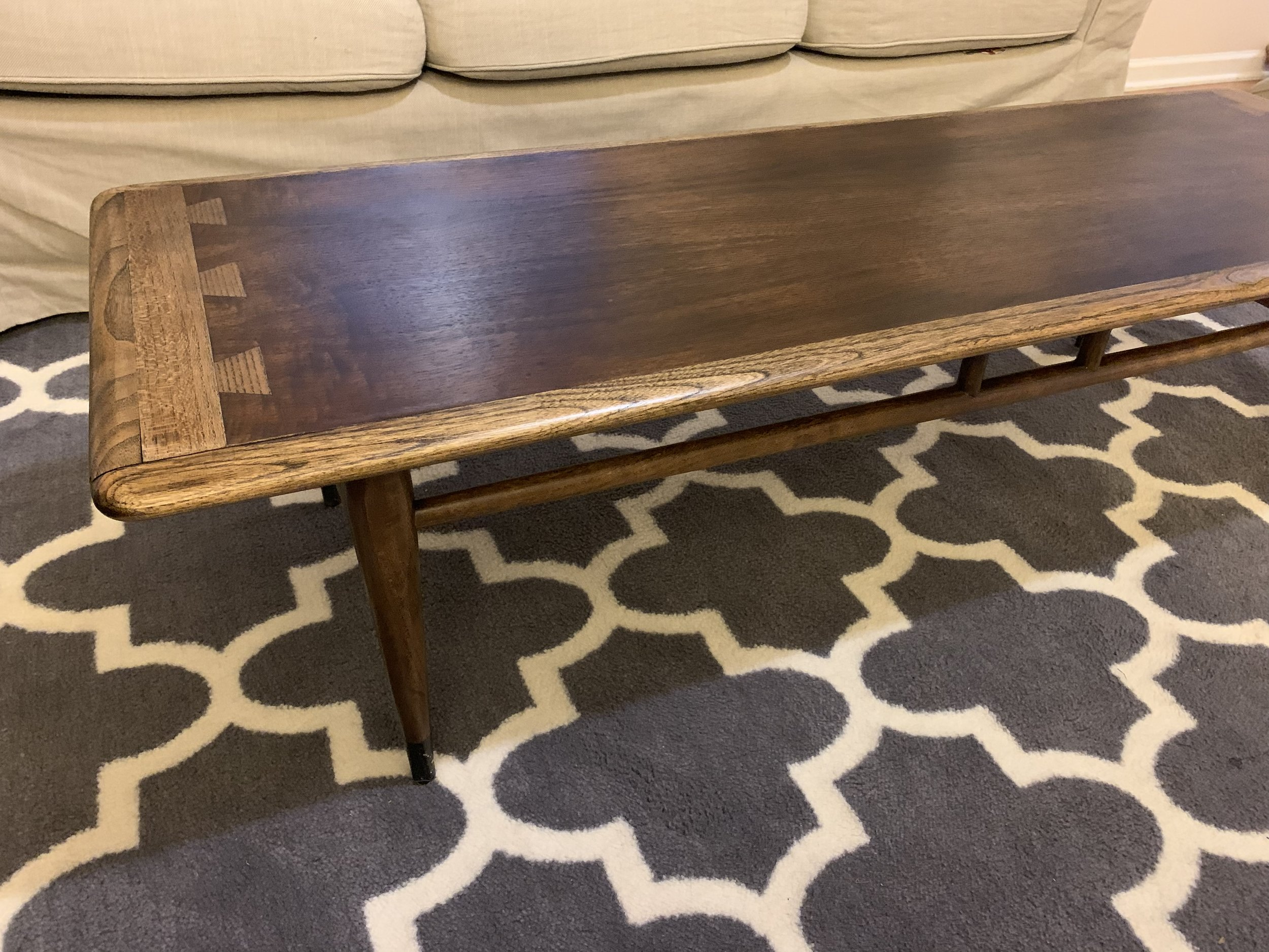 mid century modern coffee table restored