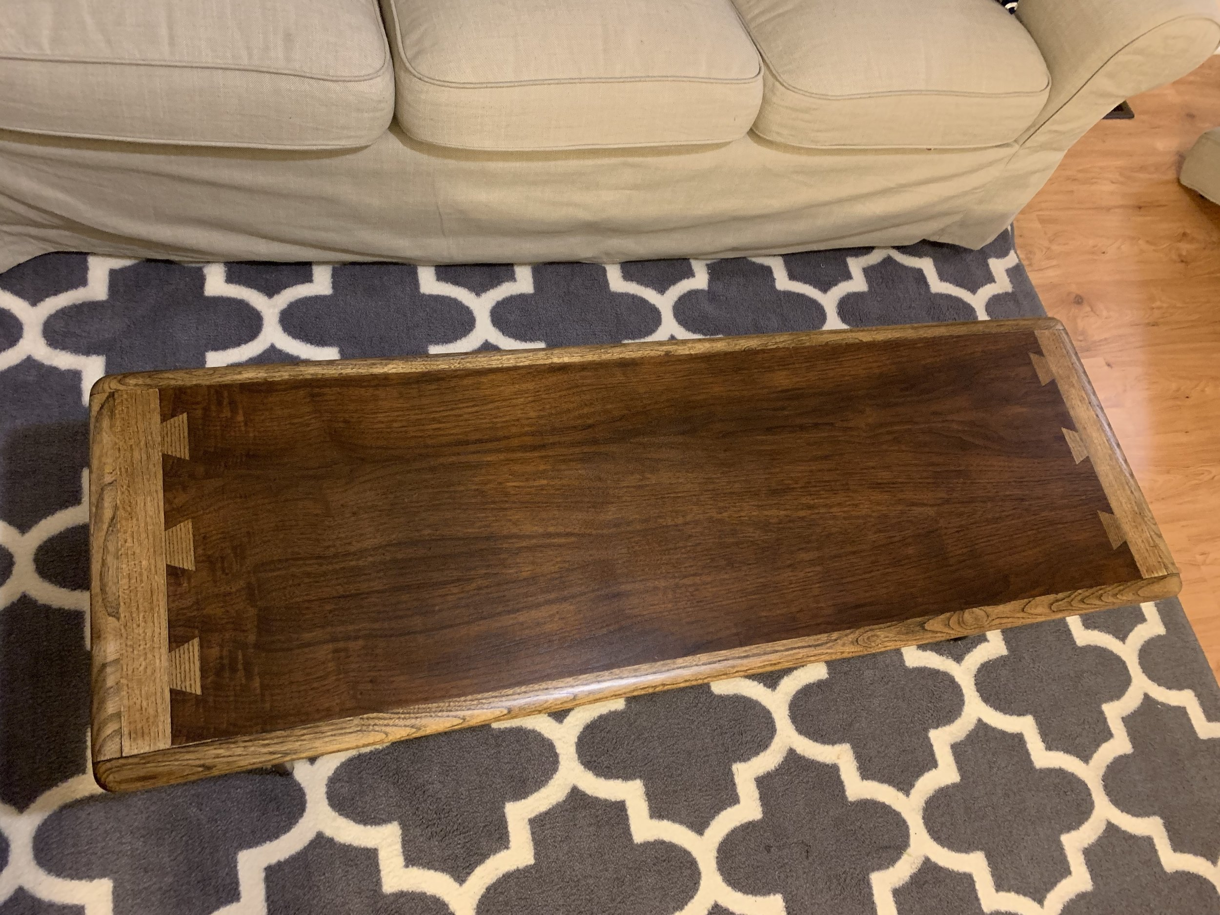 Walnut and Oak Coffee Table