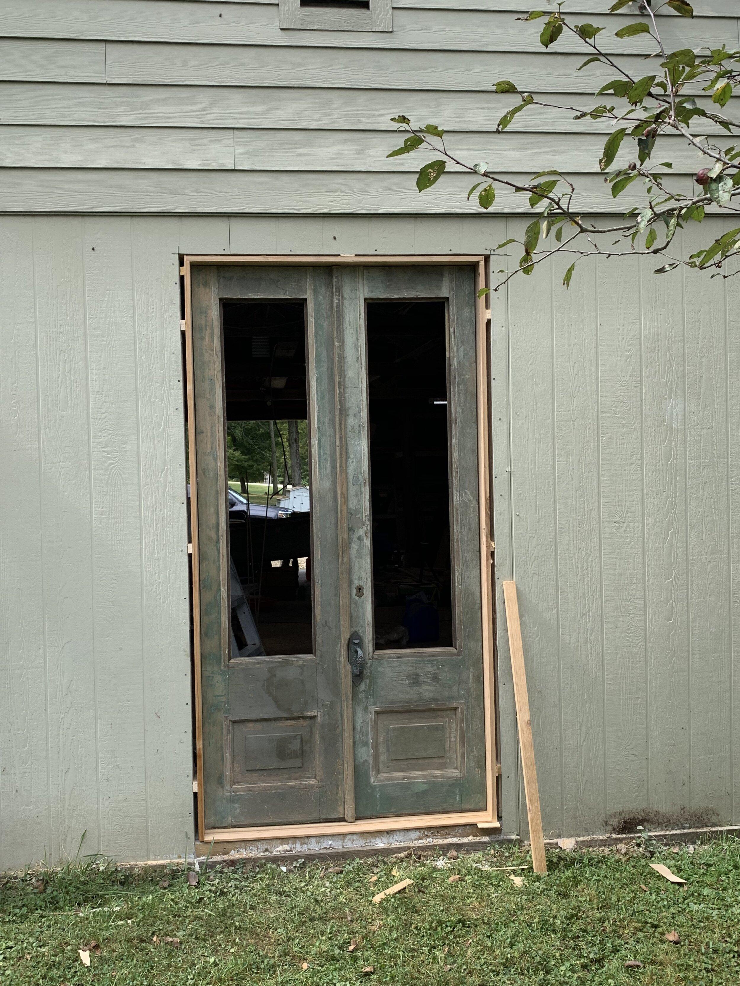 how to install an antique door