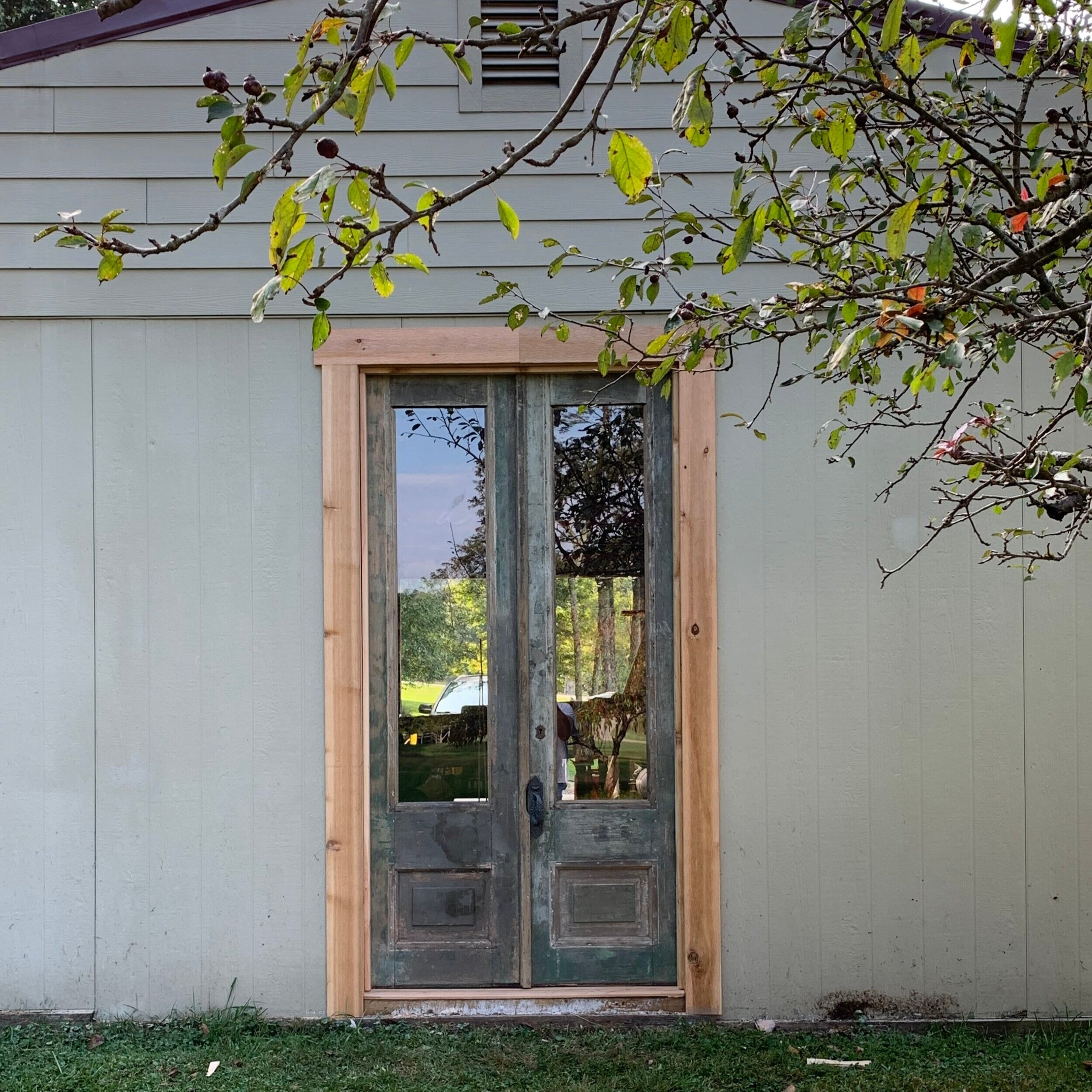 how to install an antique french door