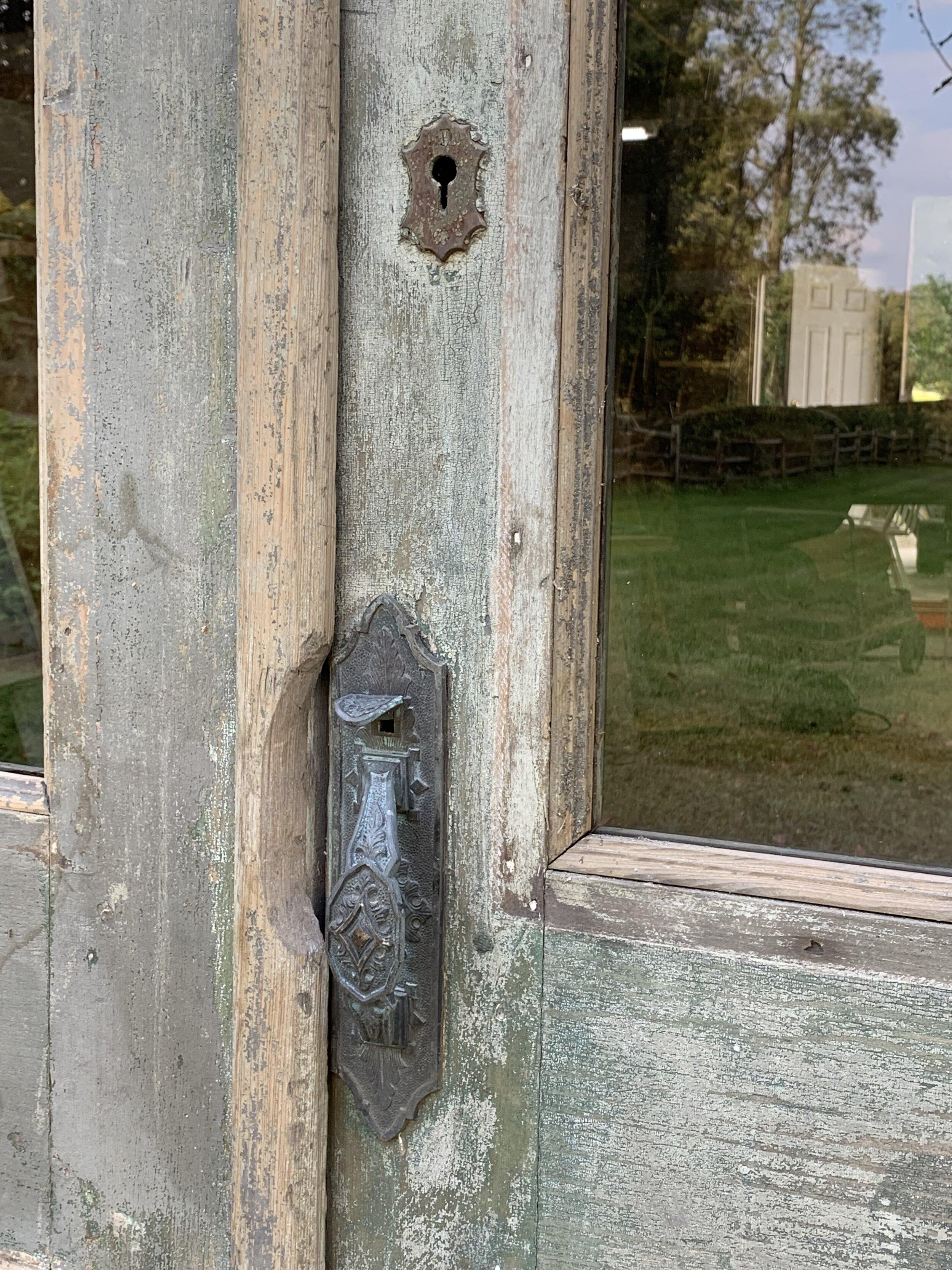 Antique barn door - wooden