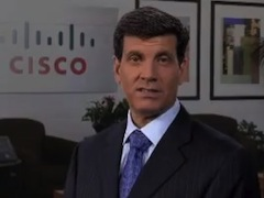 Exiting Cisco CFO Frank Calderoni.