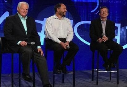 EMC CEO Joe Tucci, former Pivotal CEO Paul Maritz and VMware CEO Pat Gelsinger.