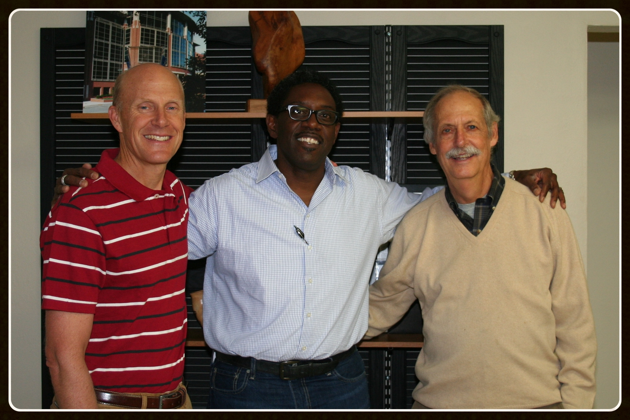 (L-R) David Kirk – Kirk Foundation, Mark Irvin – SITE Founder, Mike Kirk – Kirk Foundation