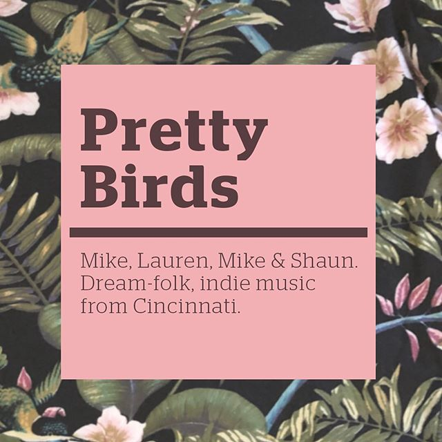 "FOLLOW US! @pretty_birds_band As we begin mixing the 4th NSW LP, Lauren, Mike and I would like to share that we have started a new acoustic combo: @pretty_birds_band We'll be delivering tasty indie dream-folk music. Shaun Powell will be playing upright bass. Please follow us! Hopefully this prevents ""brand confusion"" going forward and affords both entities to practice what they preach."