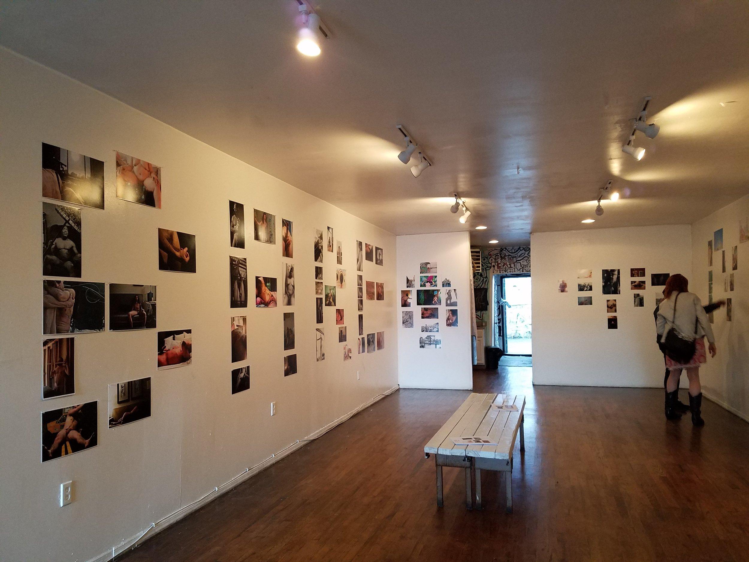Bare Men Pop-Up exhibit installation