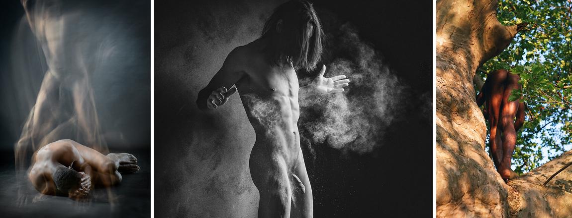 Bare Men: The Group Show  artists: © Shelagh Howard, © DearIndifference, © Ekin Balcıoğlu