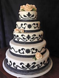 wedding, cake, wedding cake, elegant