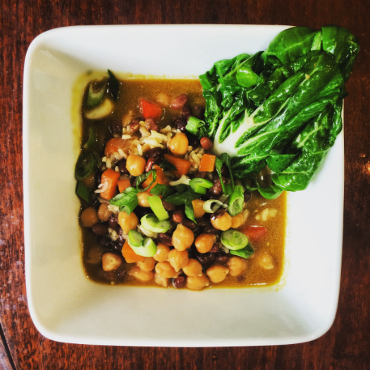 Vegan Curry Chick Peas and Beans