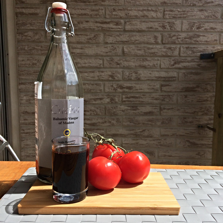 Balsamic Glaze, Tomatos, Wood, Sauce