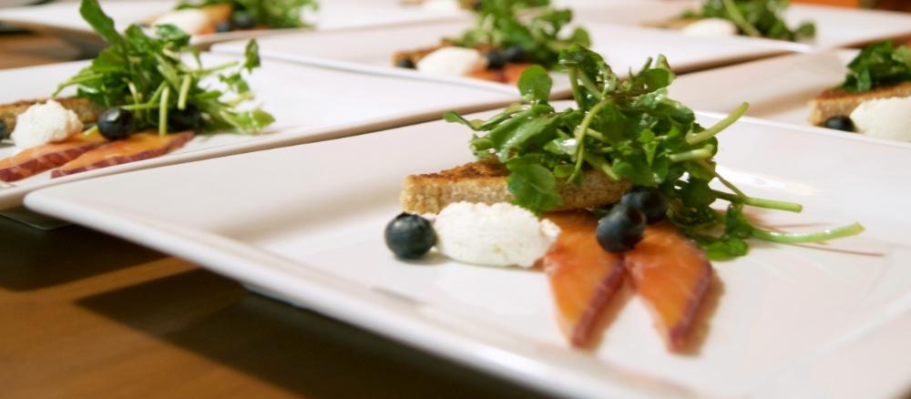 Blueberry Salmon Gravlax, Gin