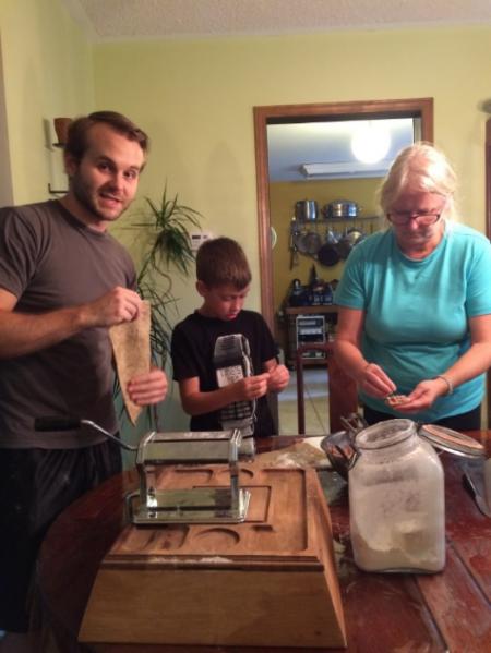 Duck Confit Ravioli Making