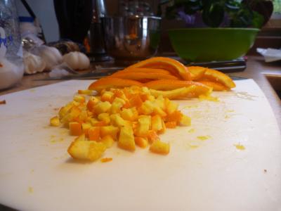 Oranges, Orange Peel, Bacon, Bacon marmalade, Cranberry Sauce, Thanksgiving