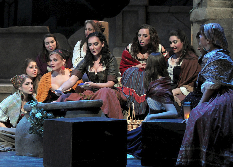 Emily Geller as Mercedes in Bizet's  Carmen  at Tri-Cities Opera, 2014