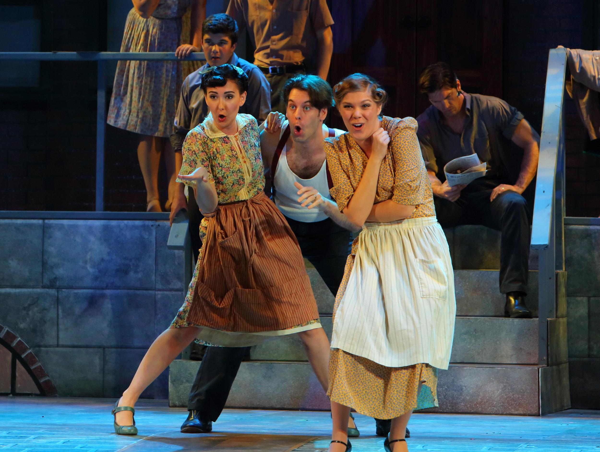 Emily Hardman as Mrs. Jones in Kurt Weill's  Street Scene  at Opera North, 2014