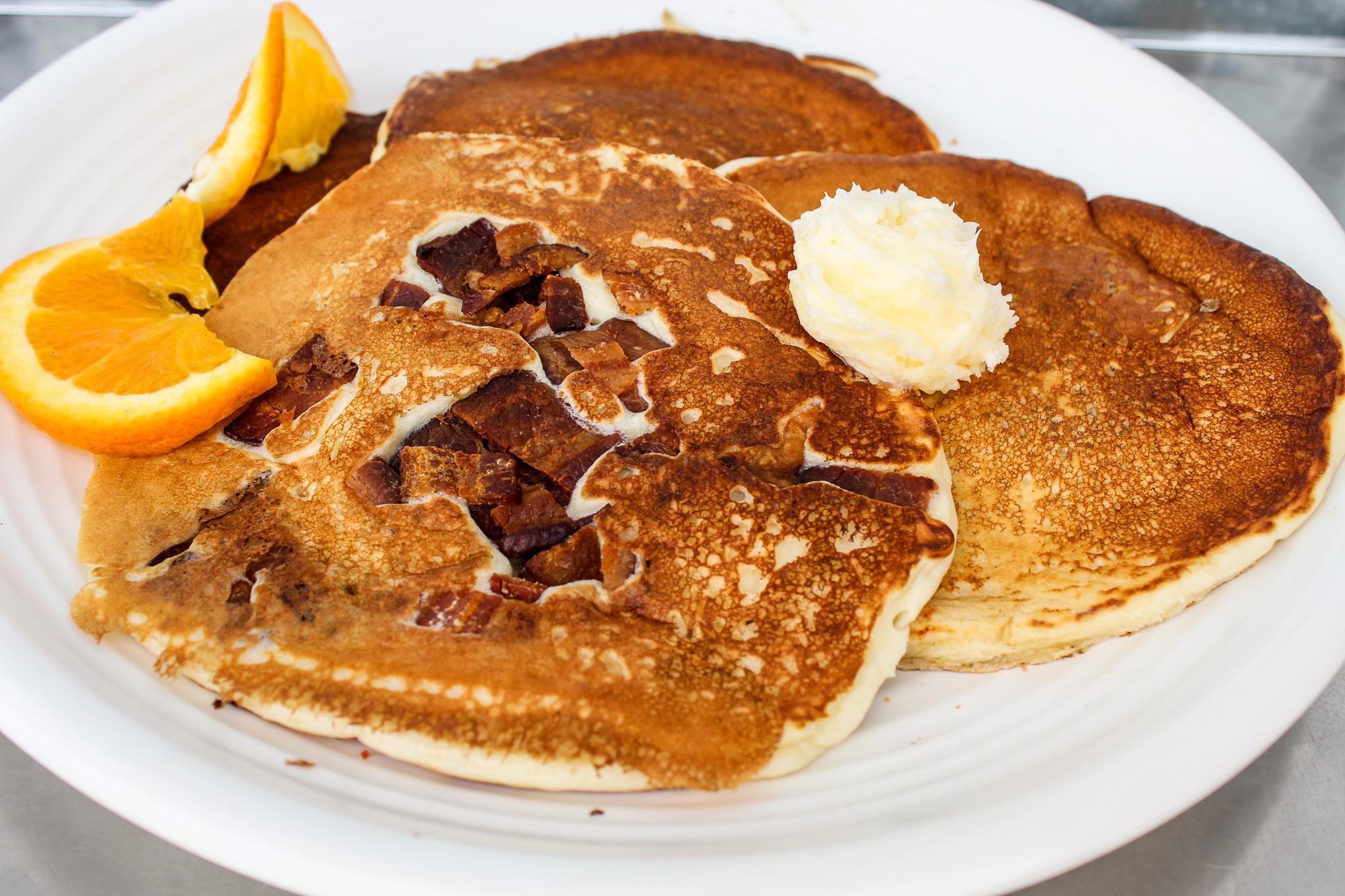 Bacon Chunk Pancakes