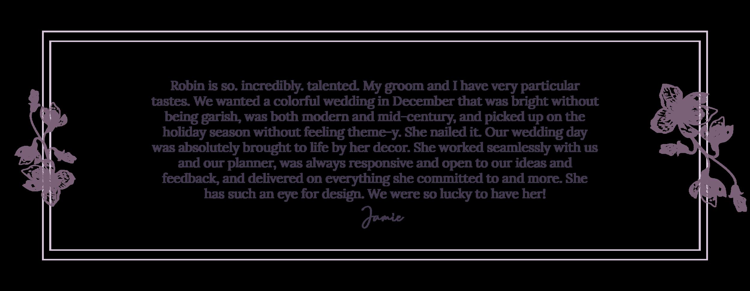 Creative wedding and event florist
