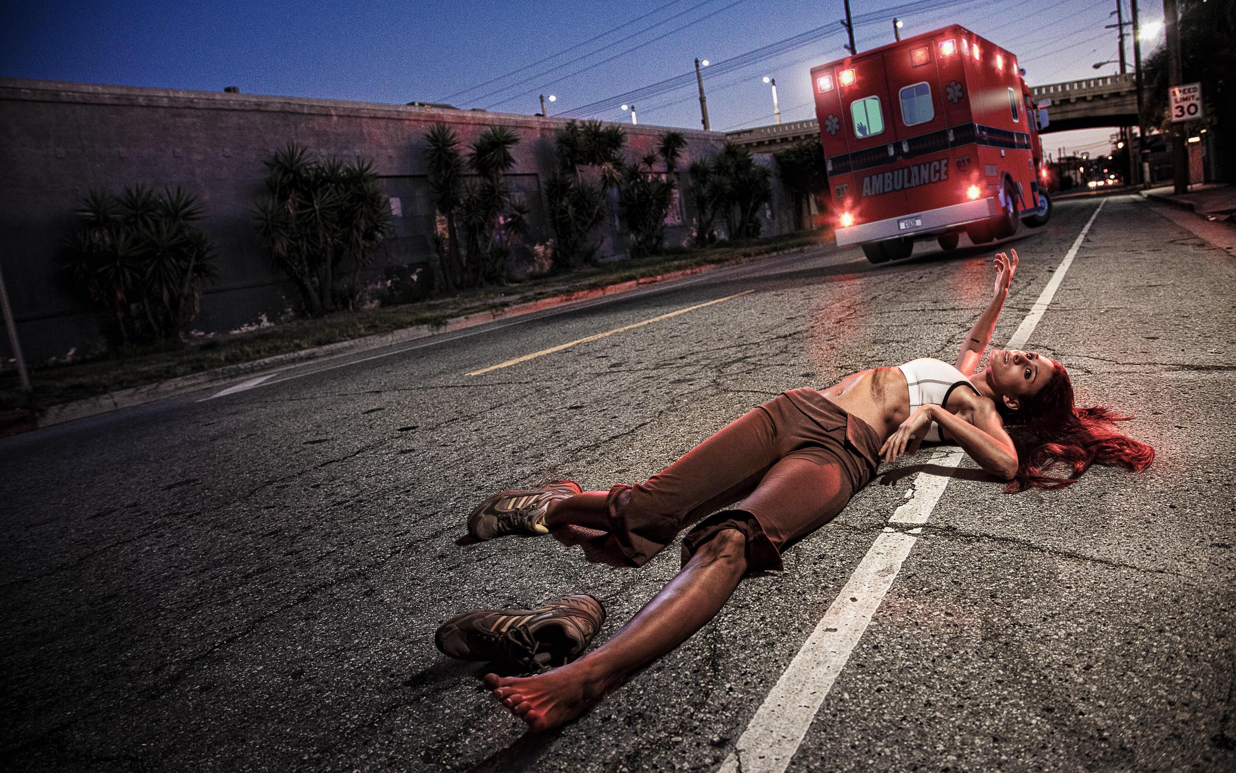 IRONIC DEATH #4 — HIT AND RUN BY AMBULANCE