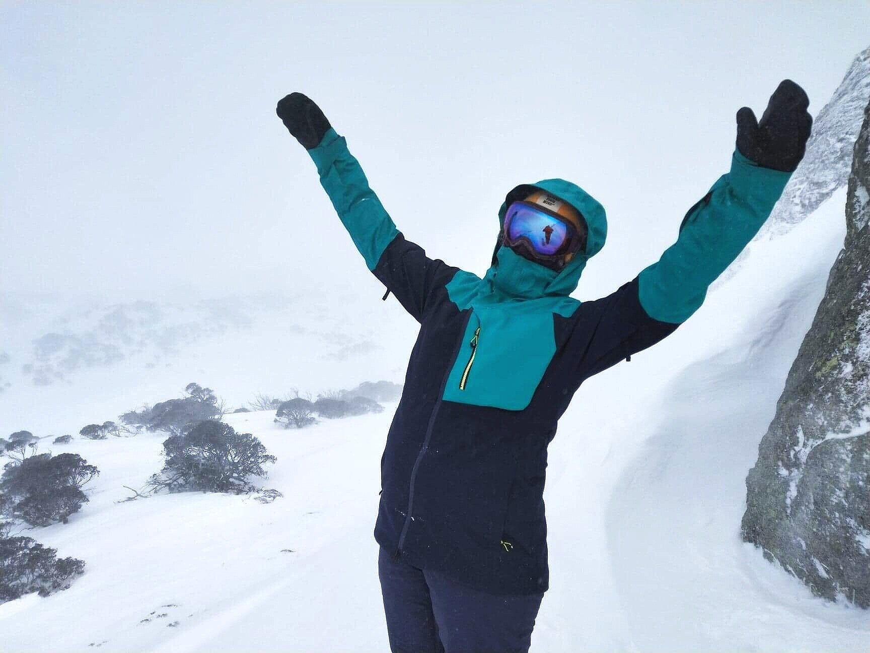 Powder day at Perisher, NSW (I'm smiling in case you can't tell)