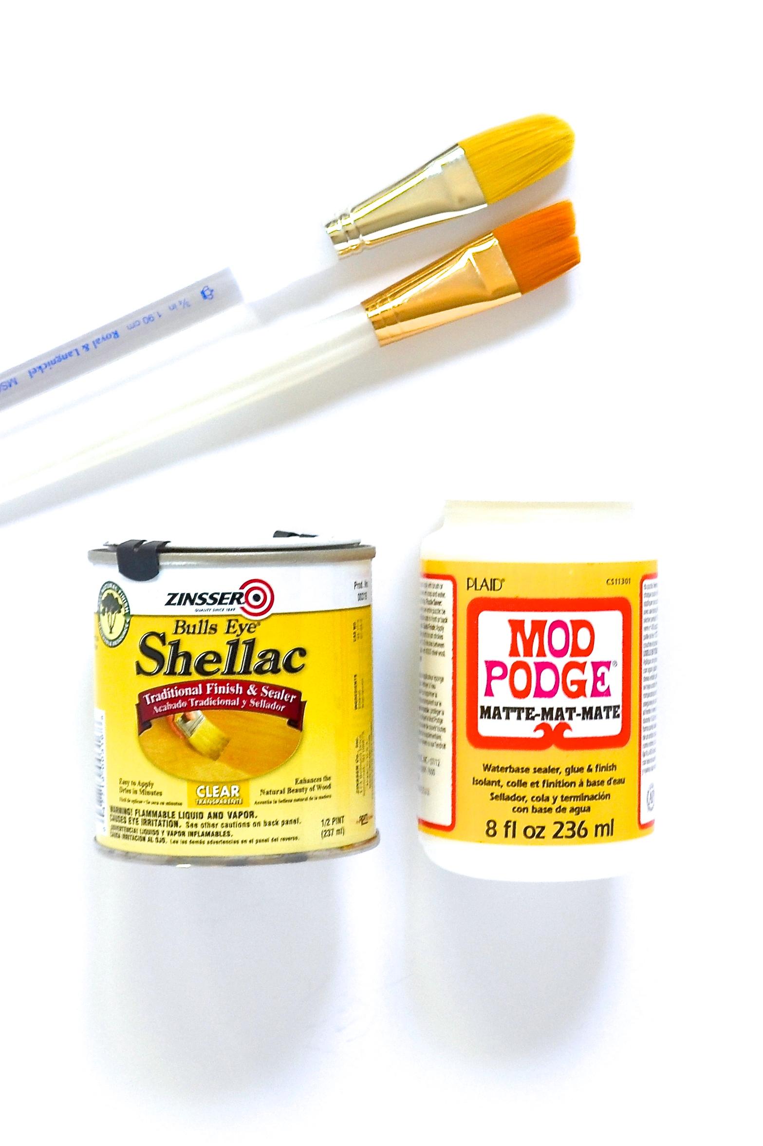 Shellac ModPodge Paintbrushes