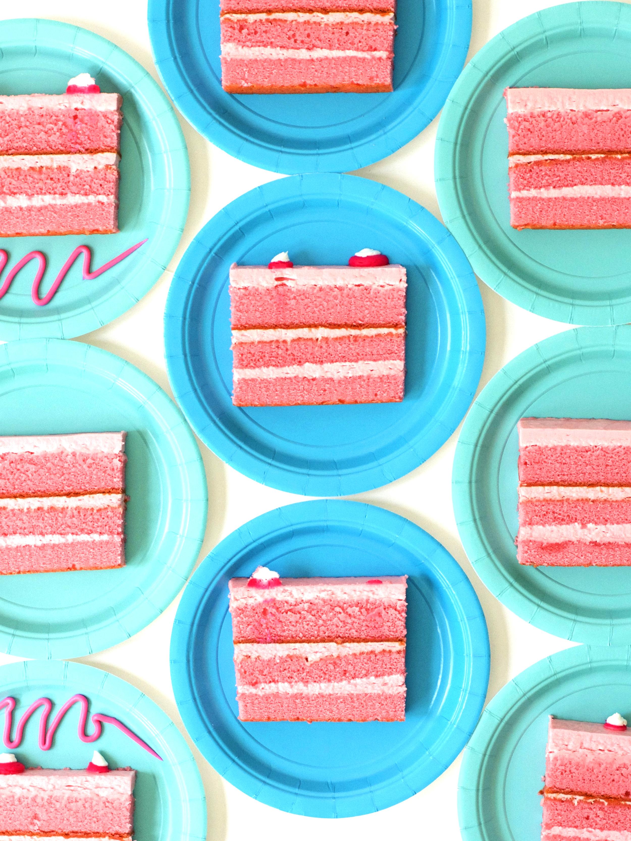 Violet Tinder Aqua + Pink Cake Pattern