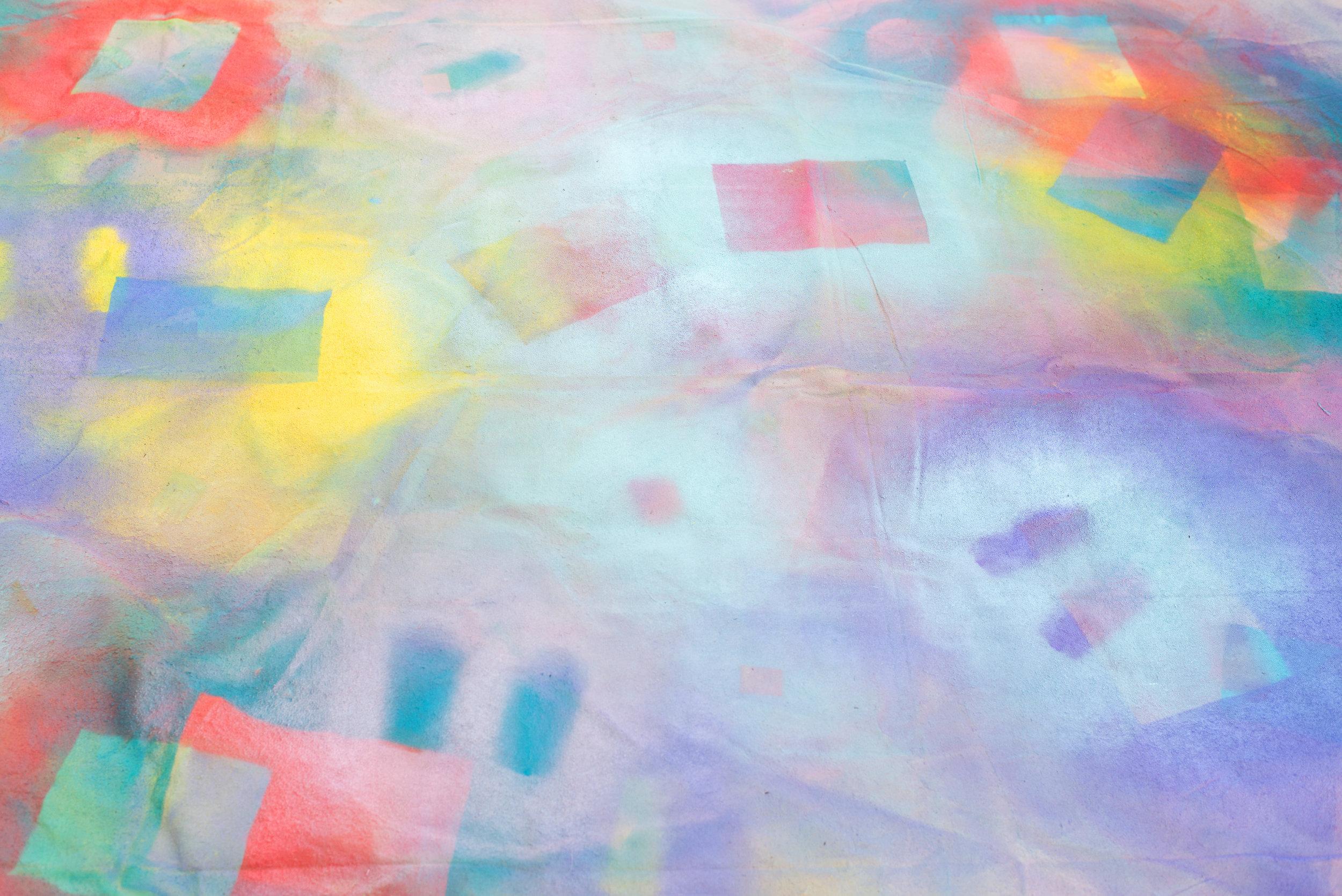 My Technicolor Dropcloth