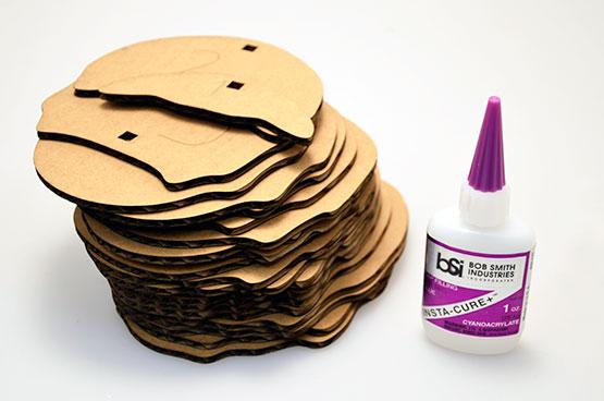 .156 Cardboard Templates & Glue