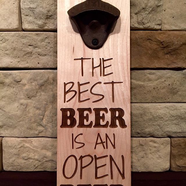 "The ""Best BEER is an OPEN BEER"" Magnetic bottle opener. Swipe left on the picture to see more!!!! Can hold upto 40+ bottle caps. Screw it to a wall or attach it to your fridge. Available to purchase @ our Etsy store. Click on the link in our profile above 👆🏻 #beer #beergift #magneticbottleopener #magnet #brewery #openbeer #bottleopener #bottle #beergift #beerbelly #beer🍻 #beerporn #bottlecap #bottlecaps #beerlover #beerstagram"
